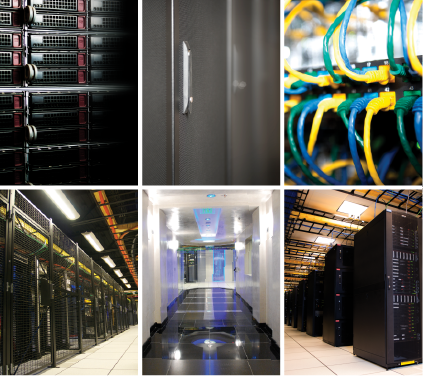 datacenter servers collage